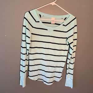 Victoria's Secret PINK Long Sleeve Top Waffle Knit